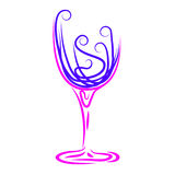 Wine Glass Represents Winetasting Alcoholic And Celebrations Royalty Free Stock Photo