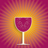 Wine Glass Retro Shine Royalty Free Stock Photo