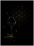 Wine glass rich background Stock Photos