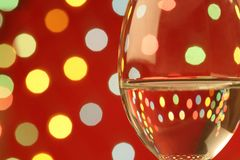Wine glass in a romantic setting Royalty Free Stock Images