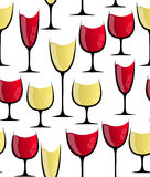 Wine glass seamless pattern Stock Photography