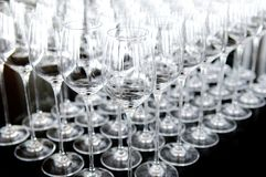 Wine glass set Stock Photography