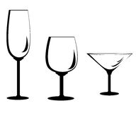 Wine Glass Set royalty free stock photos