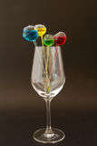 Wine glass. Shape when placed on a table with charm Royalty Free Stock Image