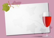 Wine glass sheet Royalty Free Stock Photos