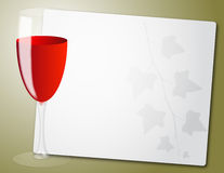 Wine glass sheet Stock Photography