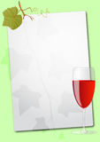 Wine glass sheet Stock Photo