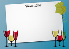 Wine glass sheet Royalty Free Stock Photo