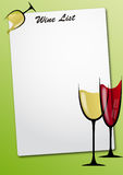 Wine glass sheet Royalty Free Stock Photography