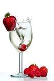 Wine Glass Splash Royalty Free Stock Photo