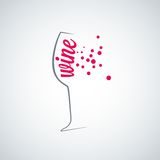 Wine glass splash menu background Stock Image