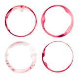 Wine glass stains Stock Photo