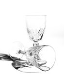 Wine glass still life isolated Stock Images