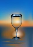 Wine glass sunset Royalty Free Stock Images