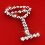 Wine glass symbol shape diamond art illustration Royalty Free Stock Images