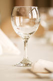 Wine glass on the table Royalty Free Stock Image