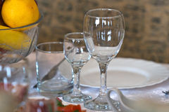 Wine-glass on a  table Stock Photos