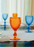 Wine glass on a table Royalty Free Stock Photo