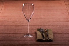 Wine glass on a table Royalty Free Stock Photos