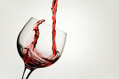 Wine Glass. Table wine one of the pleasures of life Stock Photography