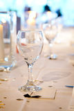 Wine Glass Table Setting. With name plate Royalty Free Stock Photography