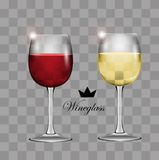 Wine glass. Transparent vector. Illustration Royalty Free Stock Photography