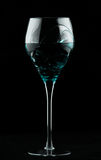 Wine glass with turquoise potion Royalty Free Stock Image