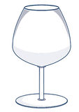 Wine Glass Vector Illustration Stock Photography