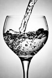 Wine glass with water Royalty Free Stock Photos