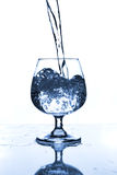 Wine glass with water Stock Photos
