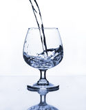 Wine glass with water Royalty Free Stock Photo
