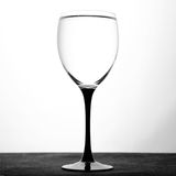 Wine glass with water on white background Stock Photo
