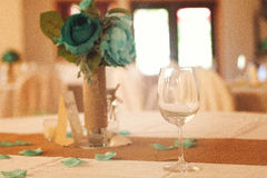 Wine glass at a wedding stock photos