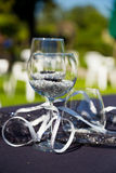 Wine Glass Wedding Reception Stock Photo