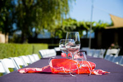 Wine Glass Wedding Reception Royalty Free Stock Photography
