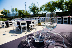 Wine Glass Wedding Reception Stock Photography