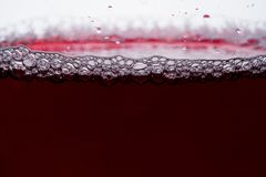 Wine in glass on white bacground. Wine in glass on white background stock image