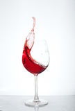 Wine in a glass on a white background. The concept of beverages. And alcohol Royalty Free Stock Images