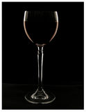 Wine glass with wine. Glass with red wine on a black background Stock Photos