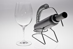 Wine Glass & Wine Bottle Royalty Free Stock Images