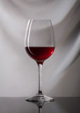 Wine. Glass of wine on gray background Royalty Free Stock Photography