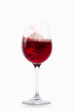 Wine. Glass of wine on white background Stock Photography
