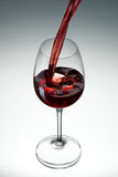 Wine. Glass of wine on white gradient background Royalty Free Stock Photography