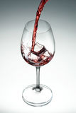 Wine. Glass of wine on white gradient background Royalty Free Stock Photos