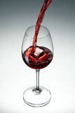 Wine. Glass of wine on white gradient background Stock Photography