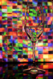 Wine Glass With Colorful Background Royalty Free Stock Photo