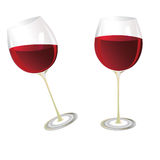 Wine glasses. Two wine glasses. Vector illustration Stock Image