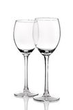 Wine glasses. Two empty wine glasses, isolated on a white background Royalty Free Stock Photography