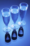 Wine Glasses. In Blue Tone Stock Images