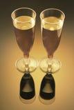 Wine Glasses. In Warm Tone Stock Photos